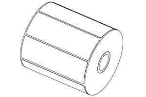 Cuộn giấy demo máy in mã vạch Godex G500 Seriess