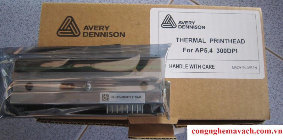 Đầu in mã vạch Avery AP 5.4 là loại đầu in thiết kế theo công nghệ in phẳng với độ bền cao