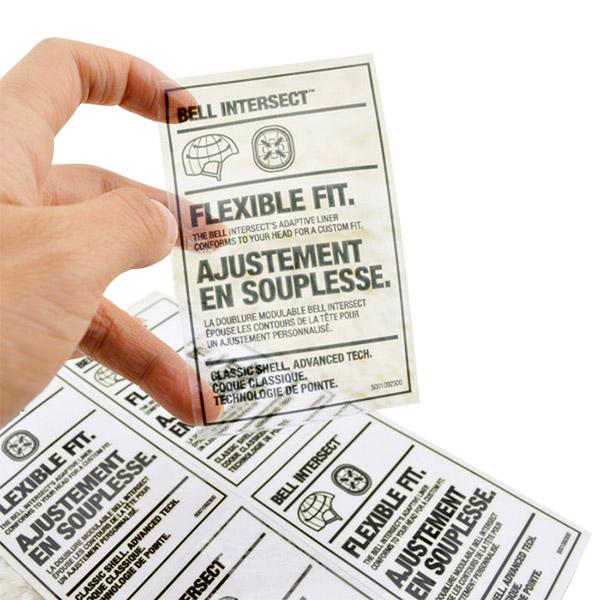 Giấy decal in nhãn tem mã vạch PVC trong suốt