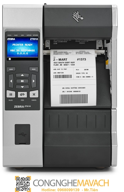 Máy in mã vạch Zebra ZT610 (ZT600 Series)