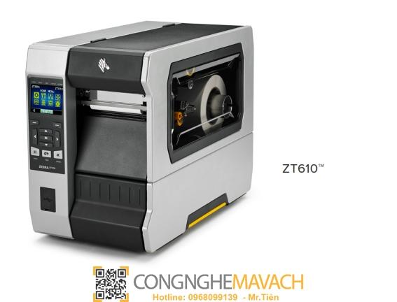 Máy in mã vạch Zebra ZT610 203dpi (ZT600 Series)